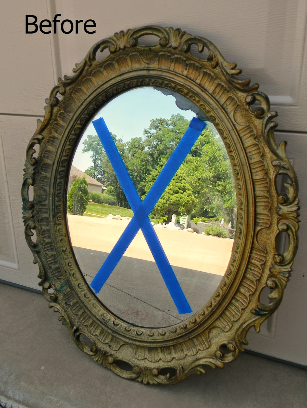 Forever Decorating Lovely Oval Mirror