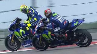 MotoGP Amerika: Rossi dan Vinales Nyaris Tabrakan