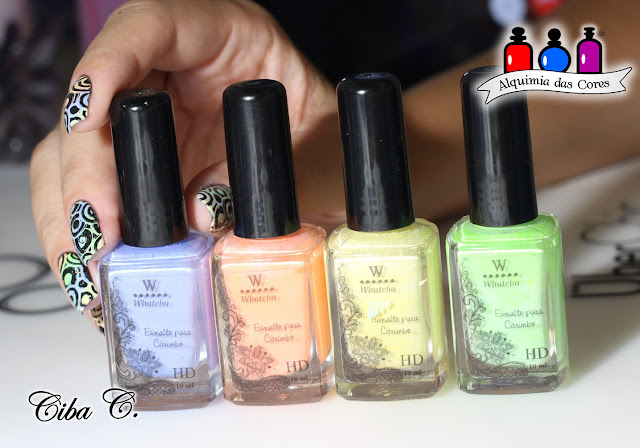 Cebella, SinfulColors, Esmaltes da Kelly, Whatcha Indie, Sugar Bubbles, Born Pretty, Starfish, Black on Black, Sail la vie, Tempest, Pink Forever, Alquimia das Cores