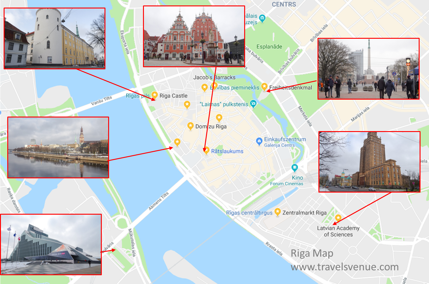 Latvia Days In Riga Svens Travel Venues - Old riga map