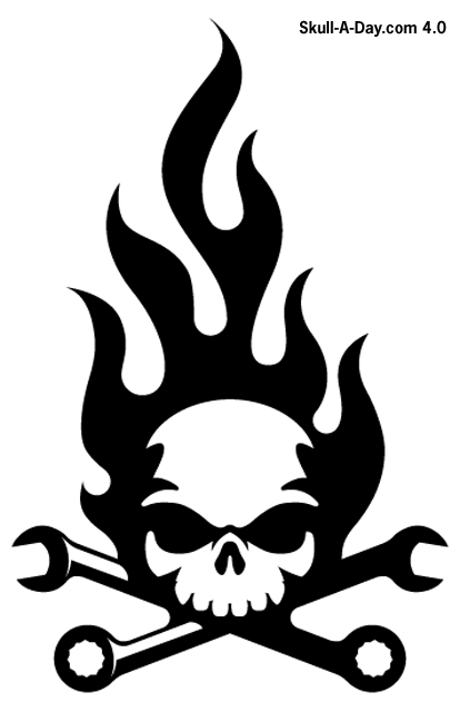 Skull & Wrenches Icon