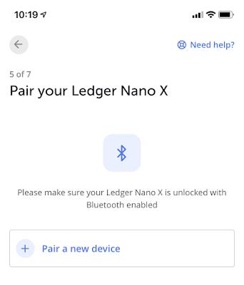 Setup Ledger Nano X