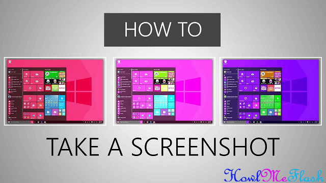 Take a Screenshot in Microsoft Windows