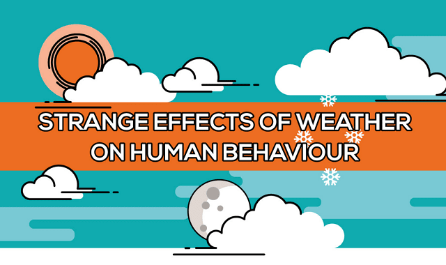 The Strange Effects of Weather on Human Behaviour