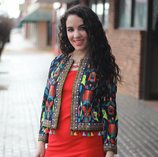SheIn Tribal Print Jacket