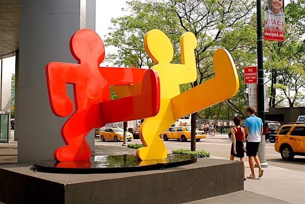 Keith Haring Two Dancing Figures Sculpture