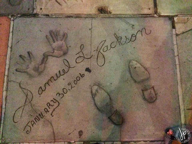 hand and foot print of samuel l. jackson