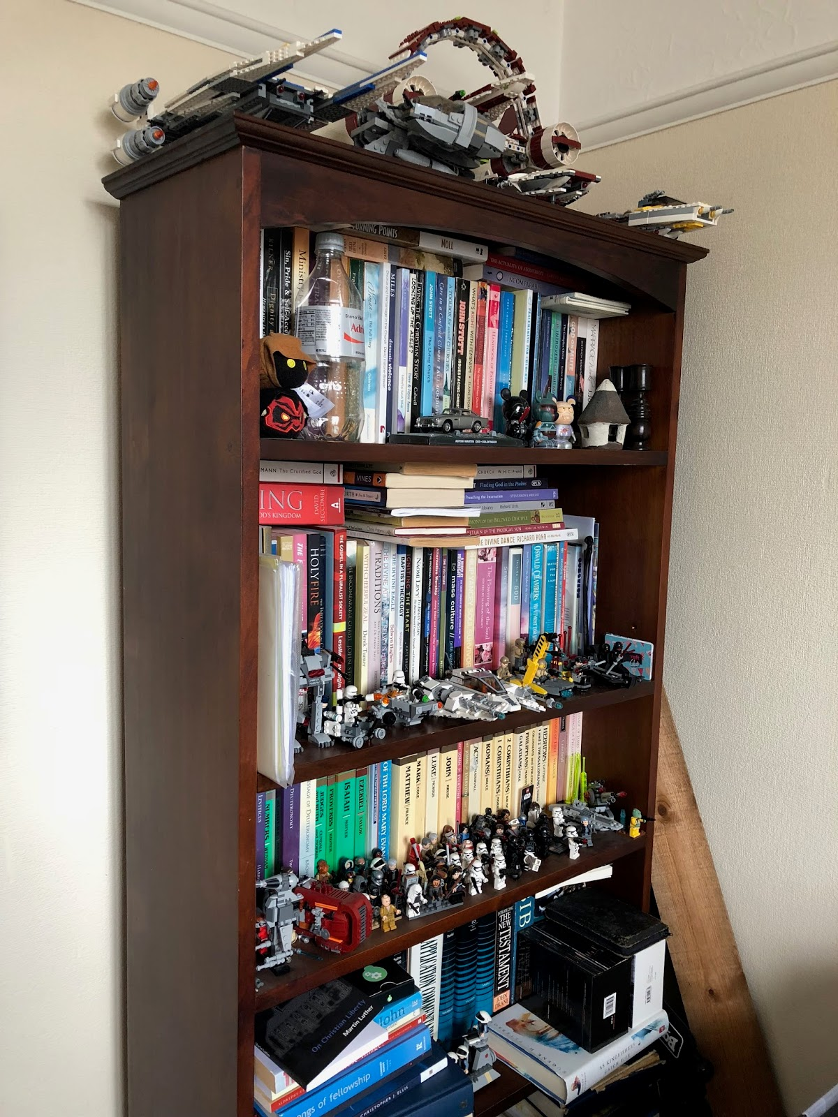 Book case and Star Wars toys
