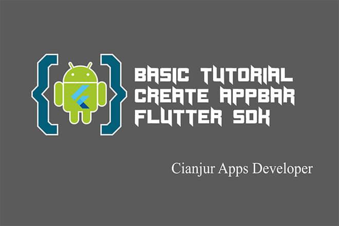 WildanTechnoArt-Belajar Cara Membuat AppBar dengan Flutter