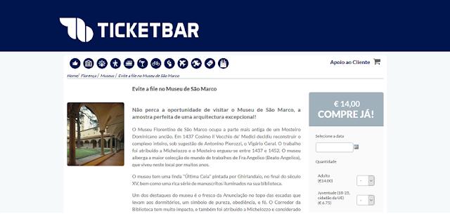 Ticketbar para ingressos para o Museu San Marco em Florença