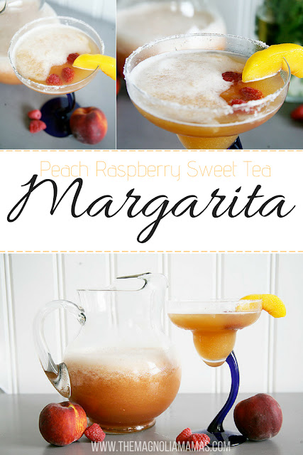 Frozen Peach Raspberry Sweet Tea Margarita Recipe