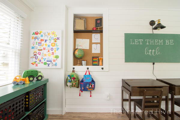 Vintage schoolhouse playroom decor