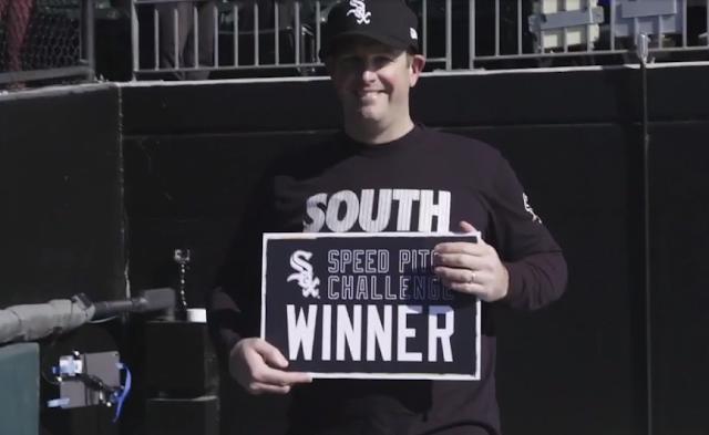 White Sox Speed Pitch Challenge winner Tom Petermann