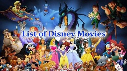 List Of All Disney Cartoon Movies