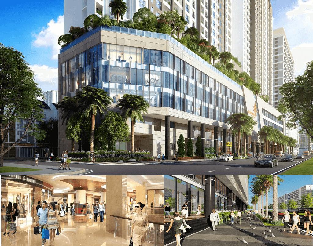 Tiện ích trung tâm thương mại đẳng cấp tại The Golden Palm Lê Văn Lương