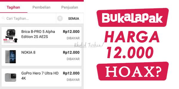 Flash Sale Promo Bukalapak (Rp. 12.000) Hoax?