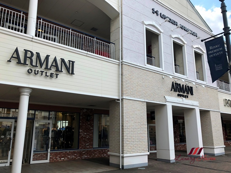 rinku town armani premium outlets sale