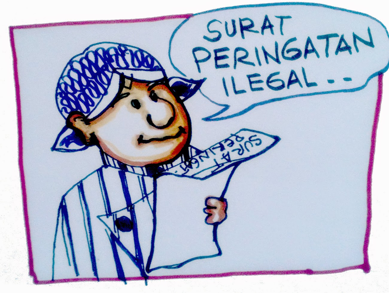 Kari Kartun Surat Peringatan Ilegalhehehe