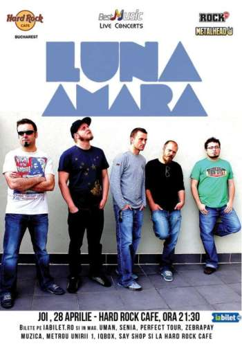 Concert Luna Amara in Hard Rock Cafe pe 28 aprilie
