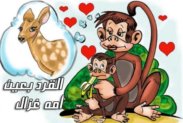 تعرف على قصة المثل الشعبي القرد بعين امه غزال