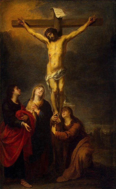 Crucifixion by Bartolome Esteban Murillo - Christianity, Religious Paintings from Hermitage Museum