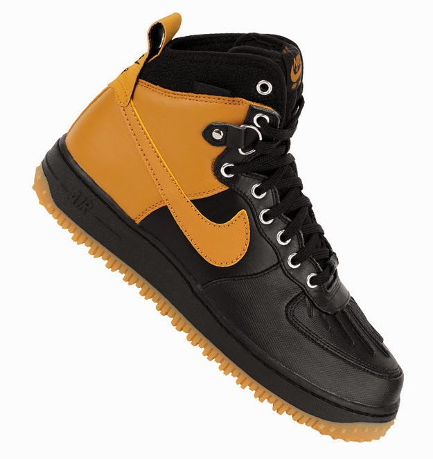 save off b1cb8 748de Nike Air Force 1 Duckboot BlackWheat-Metallic Silver Style  444745-006.  Holiday 2014. nike free runners