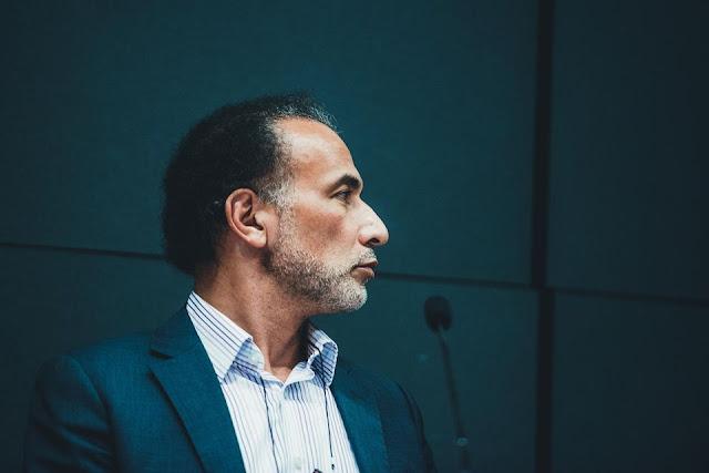Tariq Ramadan, le 6 février 2016, au colloque annuel de l'Union des organisations islamiques de France. Photo Boris Allin Hans Lucas