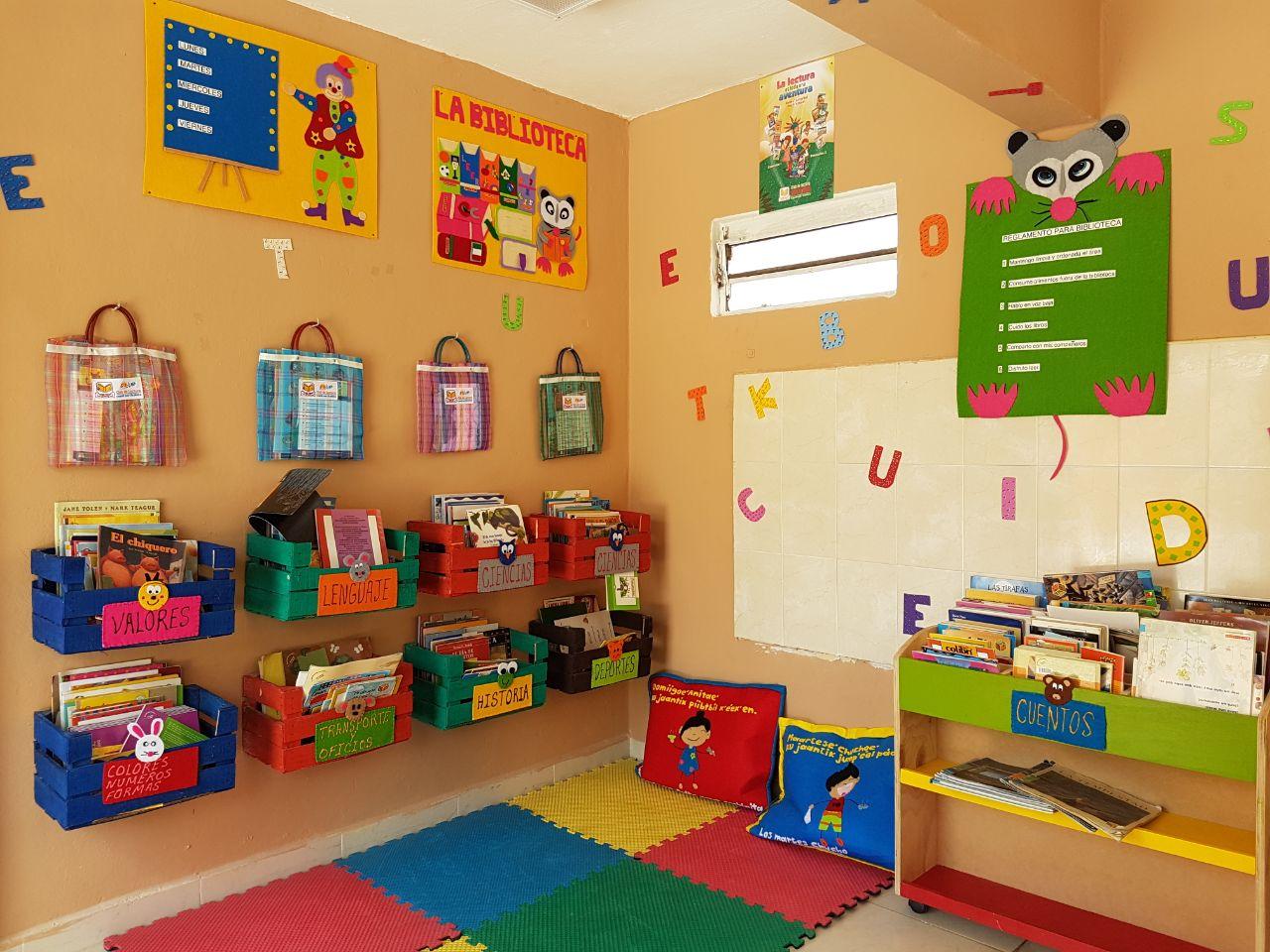Solyluna A C Una Biblioteca En El Preescolar Popol Vuh