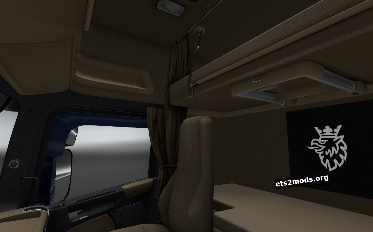 Brown Black Interior for Scania RJL