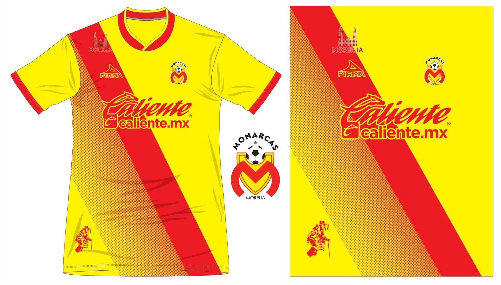 Grabal Desing Vector: Camiseta Monarcas Morelia 2017-18