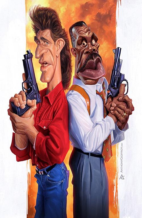 Mel Gibson y Danny Glover por Anthony Geoffroy