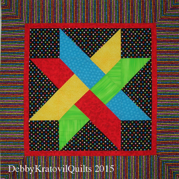 Debby Kratovil Quilts Galaxy Of Stars June Block