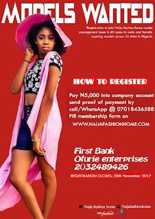 Models Are Needed At NFH(Naija Fashion Home)