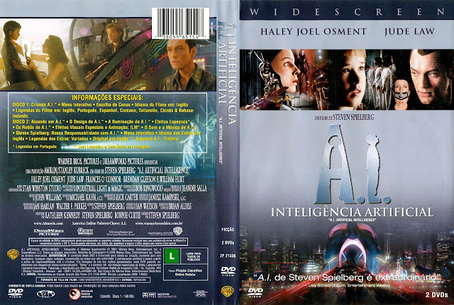 Capa DVD A.I.: Inteligência Artificial