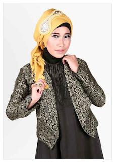 Trend Model Busana Muslim Cardigan Songket 2018