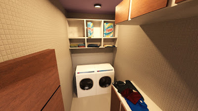 Bathroom and Laundry Area Set with Props