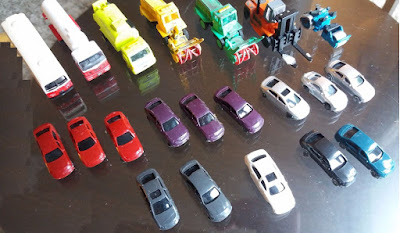 Job lot of 21 N scale vehicles from eBay