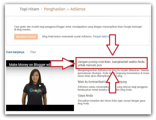 Ketika ingin berkecimpung dalam dunia blogging Jangan Terlalu Terobsesi Dengan Google Adsense