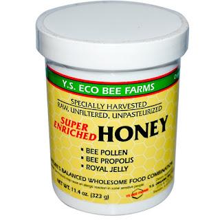 خلطة لعسل الخام الغير مبستر أو مفلتر