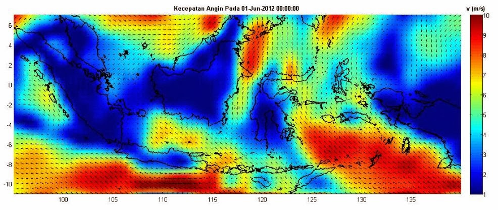 Read Wind Data from NetCDF File in Matlab ~ My Notes