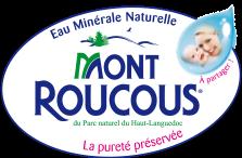 logo de l'eau Mont Roucous parfaite pour les bébés