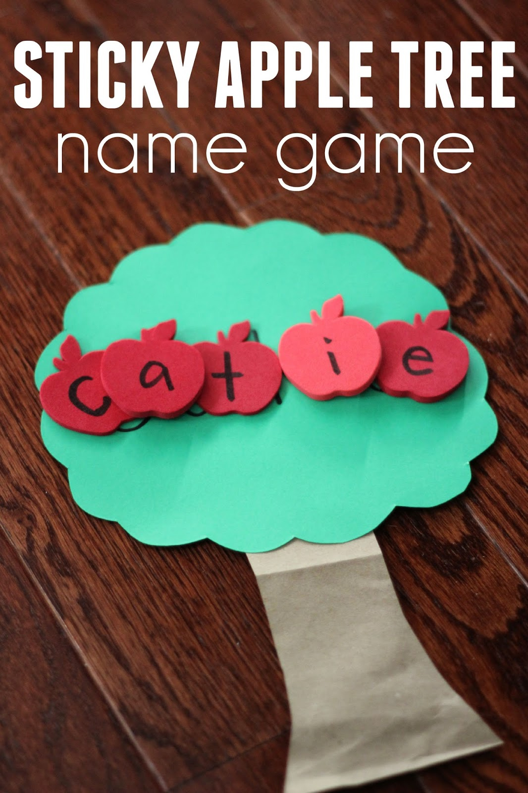Toddler Approved Sticky Apple Tree Name Game For Kids