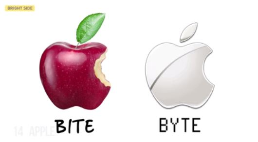 Apple byte and bite logo