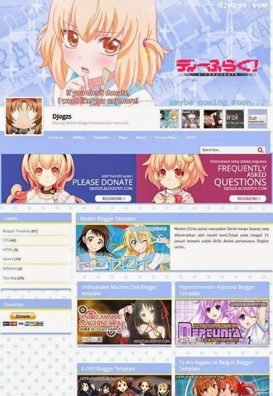 Download Anime Template Blogger