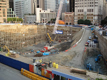 Building Los Angeles Crane Action Wilshire Grand Site