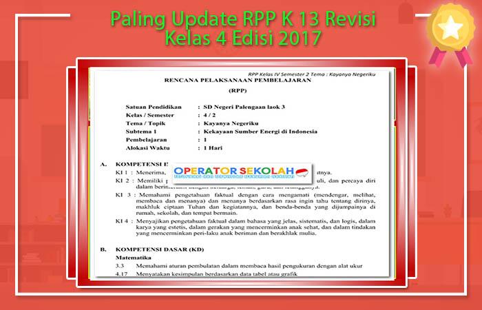 RPP K 13 Revisi Kelas 4