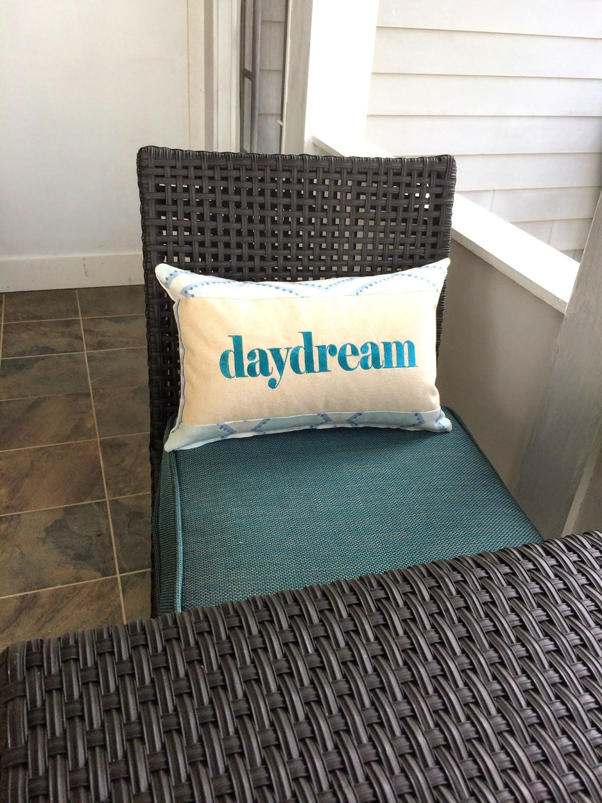 Daydream Porch Message Pillow | Belinda Lee Designs | Personalized Pillows | Unify Mismatched Furniture