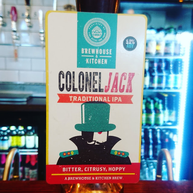 Colonel Jack from Brewhouse and Kitchen craft beer real ale pump clip