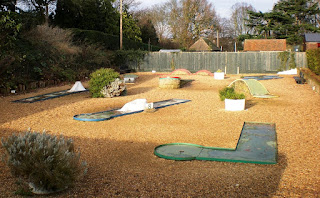 Minigolf course at Castle Park in Colchester