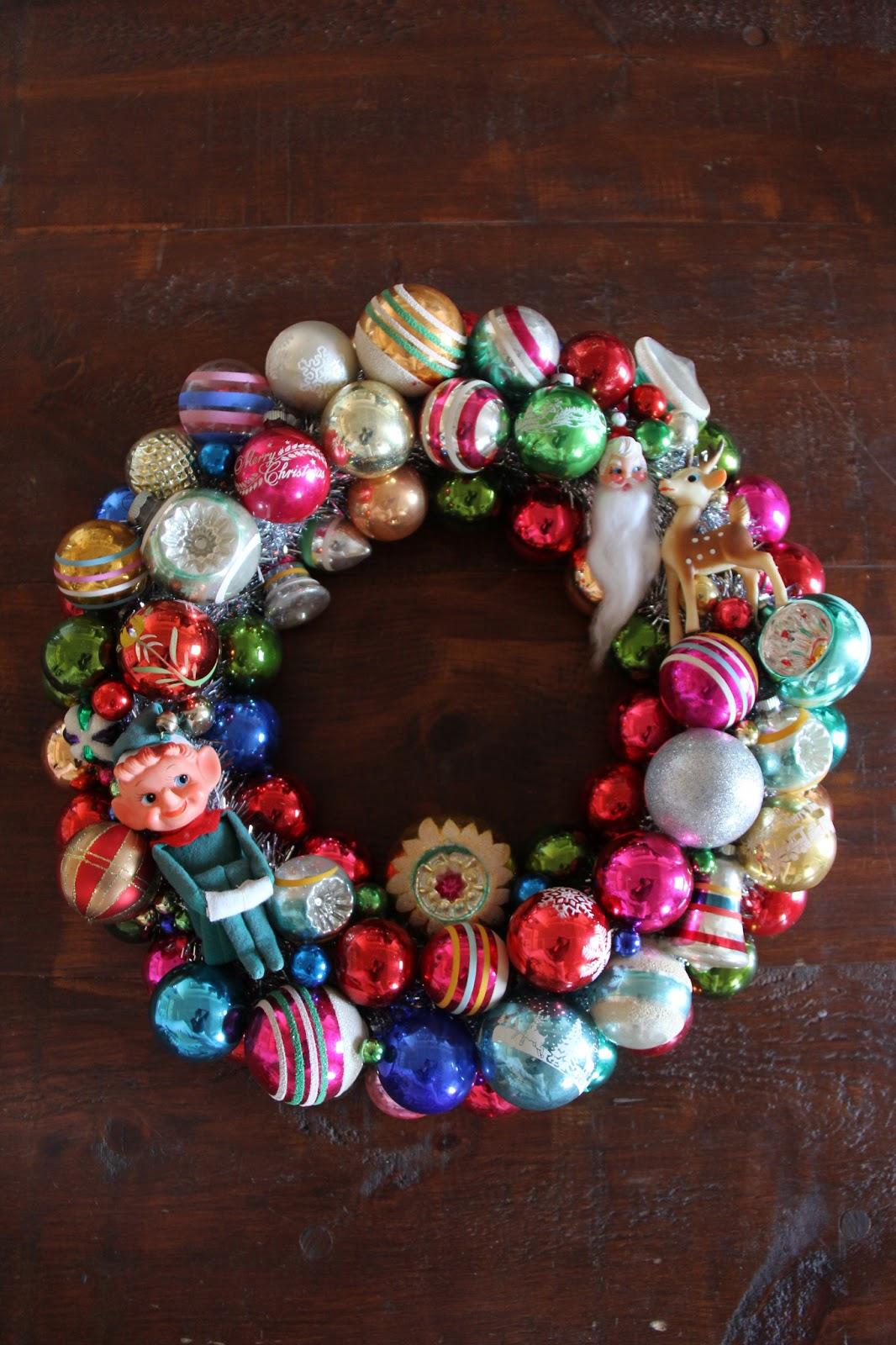 Wire Hanger Ornament Wreath